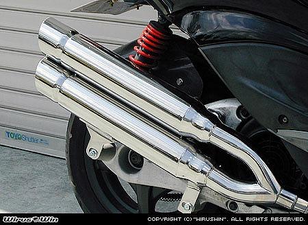 バイク用品 マフラー 4ストフルエキゾーストマフラーウイルズウィン WirusWin スタイリッシュツインマフラー ポッパー シグナスX162-14-03 4547424604965取寄品 スーパーセール