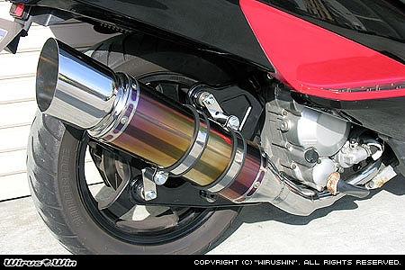 バイク用品 マフラー 4ストフルエキゾーストマフラーウイルズウィン WirusWin エクシードチタンマフラー SKYWAVE400(CK43)332-09-10 4547424734983取寄品 スーパーセール