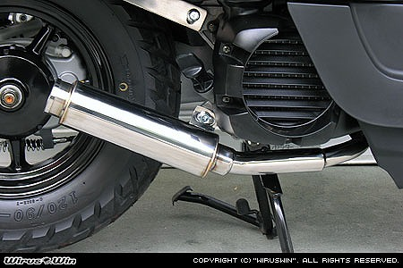 バイク用品 マフラー 4ストフルエキゾーストマフラーウイルズウィン WirusWin ロッドサイレンサー VOX982-55-01 4547567235279取寄品 スーパーセール