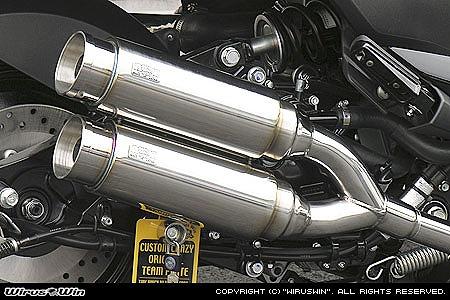 バイク用品 マフラー 4ストフルエキゾーストマフラーウイルズウィン WirusWin アトミックツインマフラー バズーカ- MAJESTY250(4D9)172-13-02 4547567450061取寄品 スーパーセール