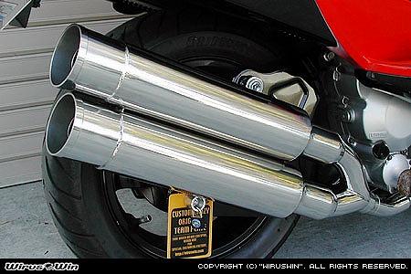バイク用品 マフラー 4ストフルエキゾーストマフラーウイルズウィン WirusWin スタイリッシュツインマフラー バズーカー SKYWAVE250(CJ43)322-14-02 4547567450337取寄品 スーパーセール
