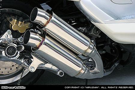 バイク用品 マフラー 4ストフルエキゾーストマフラーウイルズウィン WirusWin アトミックツインマフラー スポーツ MAJESTY250(5GM SJ)112-13-05 4547567450818取寄品 スーパーセール