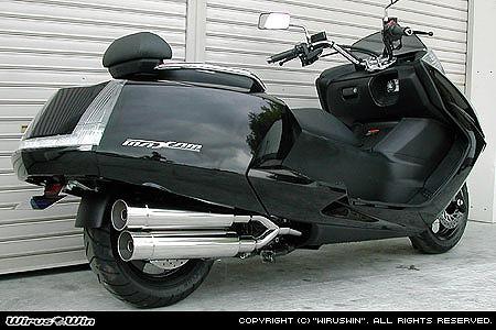 バイク用品 マフラー 4ストフルエキゾーストマフラーウイルズウィン WirusWin スタイリッシュツインマフラー バズーカー MAXAM(SG17J)152-14-02 4547567451594取寄品 スーパーセール