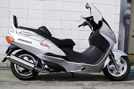 バイク用品 マフラー 4ストフルエキゾーストマフラーウイルズウィン WirusWin マーベラスレーシングマフラー SKYWAVE400(CK41 42)342-02-11 4547567703044取寄品 スーパーセール