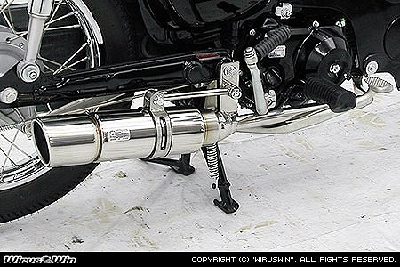 バイク用品 マフラー 4ストフルエキゾーストマフラーウイルズウィン WirusWin ロイヤルマフラー ポッパー PGM-FI リトルカブ712-59-13 4547567717881取寄品 スーパーセール