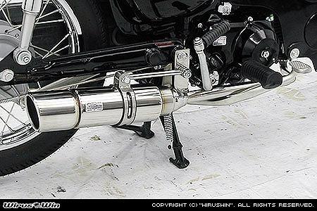 バイク用品 マフラー 4ストフルエキゾーストマフラーウイルズウィン WirusWin ロイヤルマフラー ポッパー PGM-FI カブ50722-59-13 4547567717904取寄品