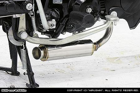 バイク用品 マフラー 4ストフルエキゾーストマフラーウイルズウィン WirusWin ロッドダウンショートタイプマフラー カブ50 PGM-FI722-56-11 4547567733027取寄品