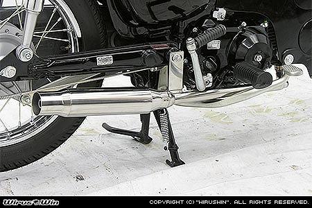 バイク用品 マフラー 4ストフルエキゾーストマフラーウイルズウィン WirusWin シャープタイプマフラー PGM-FI カブ50722-51-11 4547567804376取寄品 スーパーセール