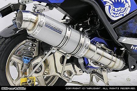 バイク用品 マフラー 4ストフルエキゾーストマフラーウイルズウィン WirusWin プレミアムマフラー SLVカーボン BWS125182-26-31 4547567804468取寄品 スーパーセール