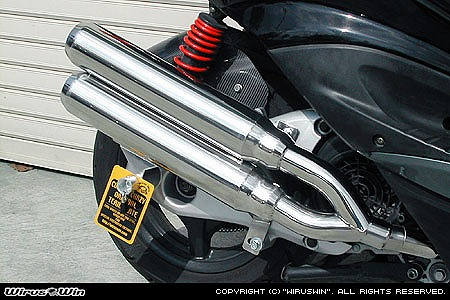 バイク用品 マフラー 4ストフルエキゾーストマフラーウイルズウィン WirusWin スタイリッシュツインマフラー ジェット シグナスX(台湾5期)162-14-14 4548664055357取寄品 スーパーセール