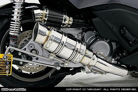 バイク用品 マフラー 4ストフルエキゾーストマフラーウイルズウィン WirusWin アトミックショートマフラー ポッパー Faze(MF11)252-12-03 4548664056460取寄品 スーパーセール