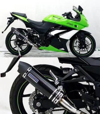 バイク用品 マフラー 4ストスリップオン&ボルトオンマフラーウイルズウィン WirusWin スリップオンマフラー ユーロ BLKカーボン Ninja250R1016-30-26 4548664188994取寄品 スーパーセール