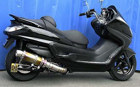 バイク用品 マフラー 4ストフルエキゾーストマフラーウイルズウィン WirusWin プレミアムマフラー BLKカーボン GRANDMAJESTY400(O2センサー付)132-26-22 4548664819973取寄品 スーパーセール