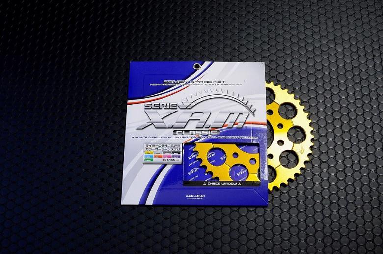 バイク用品 駆動系XAM ザム スプロケット 428-44 セロー225 リアドラムブレーキ TT225 BRONCO XT225A3208-44 4528388425513取寄品 セール