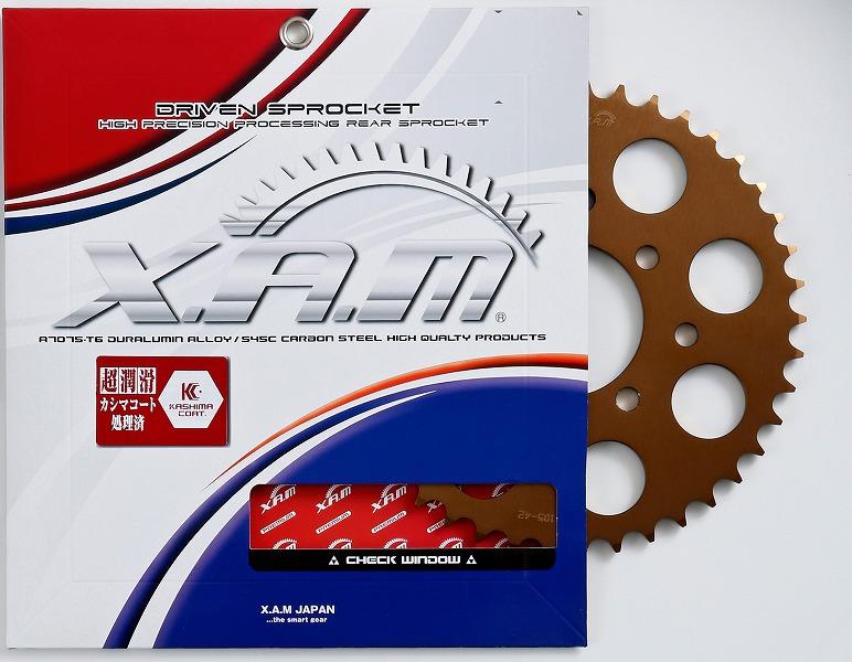 バイク用品 駆動系XAM ザム PRE スプロケット 520-44T TLR250R DUKE125 200A4124X44 4528388159364取寄品 セール
