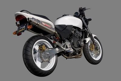 バイク用品 マフラーヤマモトレーシング YAMAMOTORACING ステン4-1-2 チタンサイレンサー キャタナシ HORNET25010253-82STB 4521717004052取寄品 スーパーセール
