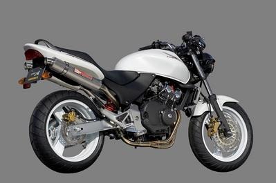 バイク用品 マフラーヤマモトレーシング YAMAMOTORACING ステン4-1-2 チタンサイレンサー キャタツキ HORNET25010253-82STC 4521717004083取寄品