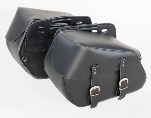 【送料無料】在庫特価アメリカン サイドバッグ6 ブラック 大容量 34L【MFA-19】【TANAX】【タナックス】バイク用品 バイク用 サイドバック 黒