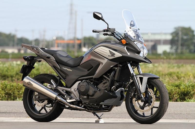 【r's gear】【アールズギア】【Honda 12~ NC700X/S 14~ NC750X/S 12~ インテグラ】【ワイバン リアルスペック スリップオン チタンドラッグブルー】RH20-03RD