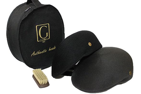 【送料無料】イタリア製GUERRA(ゲラ)ファーフェルトプロムナード/ハンチング/カシミア/グレー/ブラック/帽子/紳士/メンズ/レディース/AW