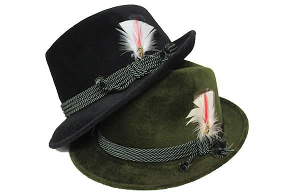 【送料無料】イタリア製GUERRA(ゲラ)ファーフェルト中折れ帽/ソフト帽/ブラック/グリーン/帽子/紳士/メンズ/レディース/AW/