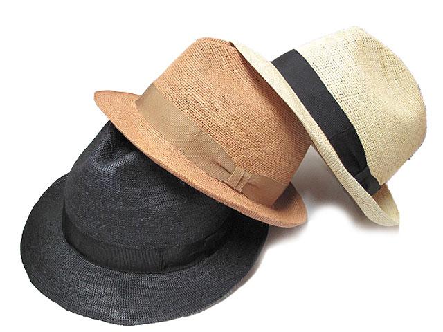 帽子/メンズ/KOBEDO鈎針パナマハット/天然/中折れハット/ポケッタブル/ベージュ/ナチュラル/ブラック/M/L/LL/【送料無料】紳士/小さい/大きい/サイズ//SS