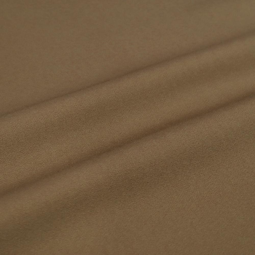 お召 御召 メンズ 男性用 渋黄土色 黄枯茶 無地 紅花染 紅花の里工房 反物 着尺 準礼装 セミフォーマル お洒落着 カジュアル かっこいい 粋 渋い モダン 受注生産 No.88-1516
