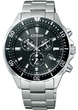エントリーでポイント最大29倍キャンペーン シチズン エコドライブ クロノグラフ 腕時計 メンズ VO10-6771F