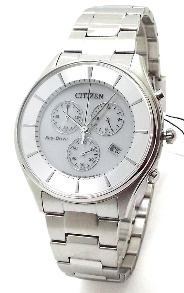 【 2000円off 割引クーポン配布中 】 シチズン エコドライブ クロノグラフ 薄型 スリム 腕時計 メンズ AT2360-59A