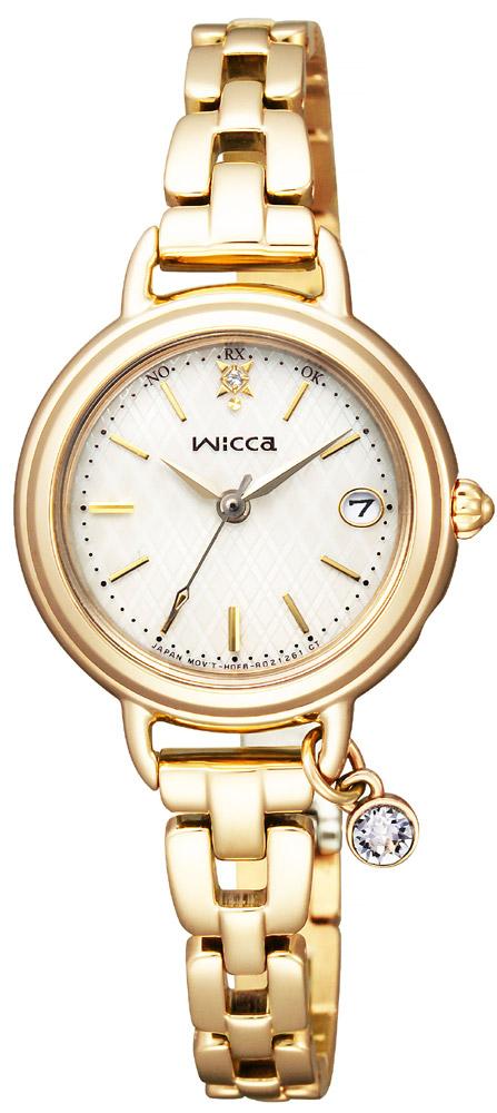 【 さらに10%offクーポン配布中 】 ソーラー電波時計 シチズン ウィッカ wicca チャーム付 レディース 腕時計 KL0-511-91 CITIZEN