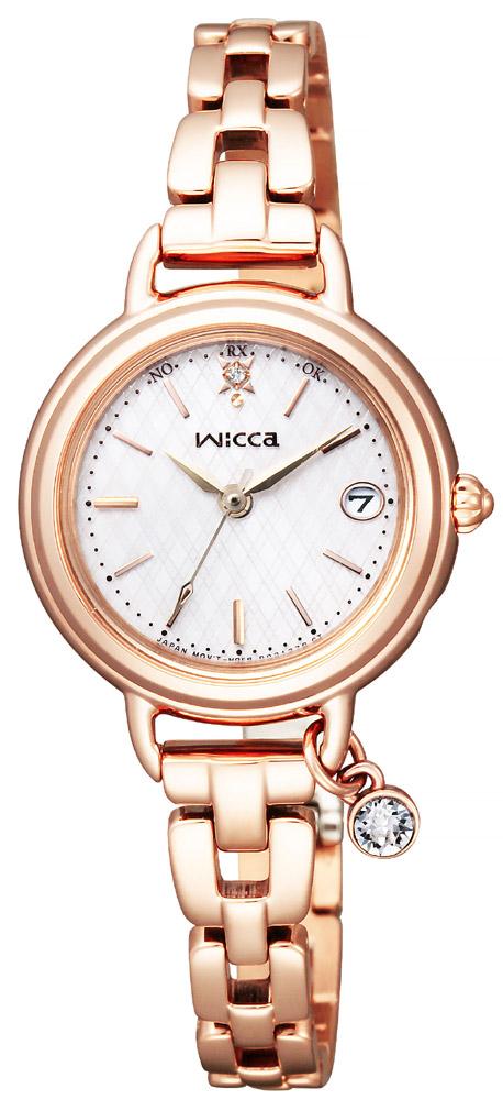 ソーラー電波時計 シチズン ウィッカ wicca チャーム付 レディース 腕時計 KL0-529-31 CITIZEN
