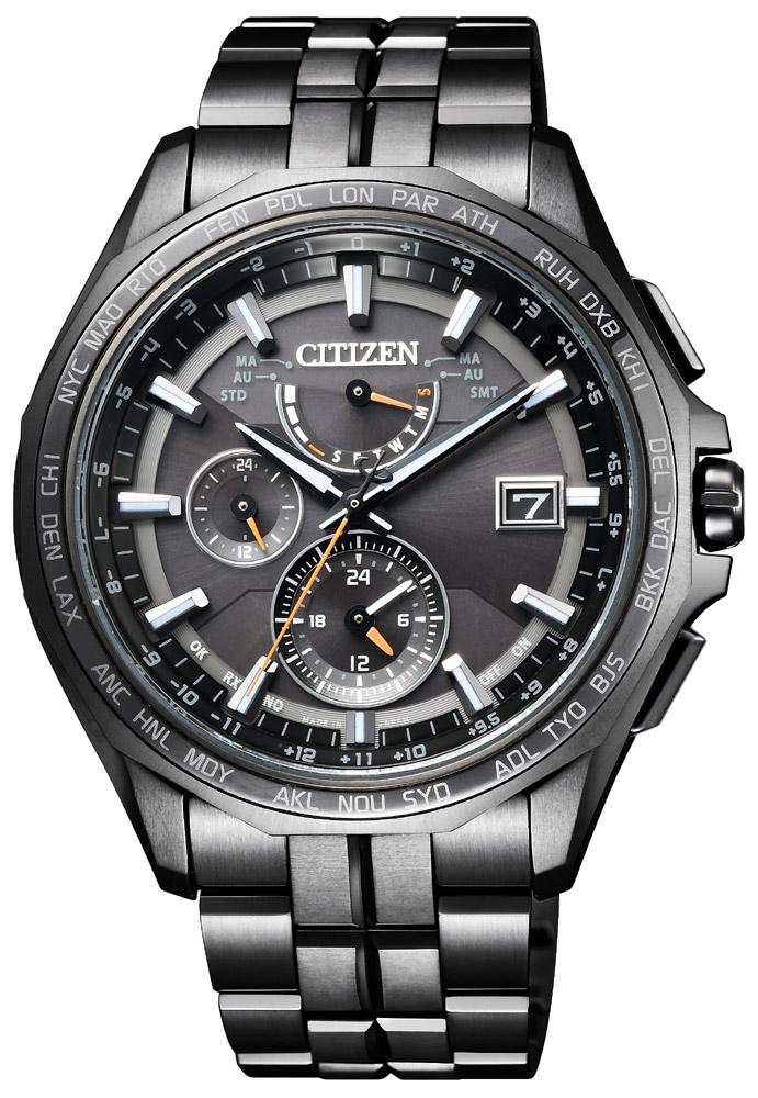 94473590fa ... 中 さらに10%offクーポン配布中 アテッサ ブラックチタン ソーラー電波時計 シチズン エコドライブ スーパーチタニウム ワールドタイム クロノグラフ  メンズ腕時計 ...
