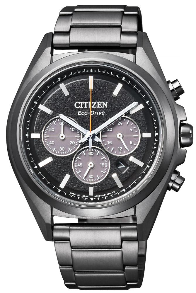 アテッサ ブラックチタン スーパーチタニウム シチズン エコドライブ クロノグラフ メンズ腕時計 CITIZEN ATTESA CA4394-54E
