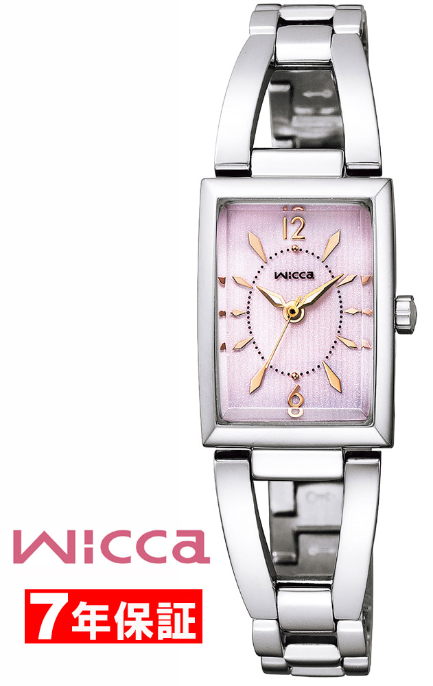 【 さらに10%offクーポン配布中 】 wicca ウィッカ スクエア ソーラーテック カットガラス レディース 腕時計 KF7-511-91