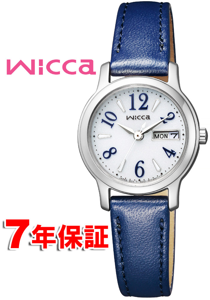 【 さらに10%offクーポン配布中 】 wicca シチズン ウィッカ ソーラー時計 ダイヤモンド スワロフスキー 日 曜日カレンダー レディース 腕時計 CITIZEN KH3-410-10
