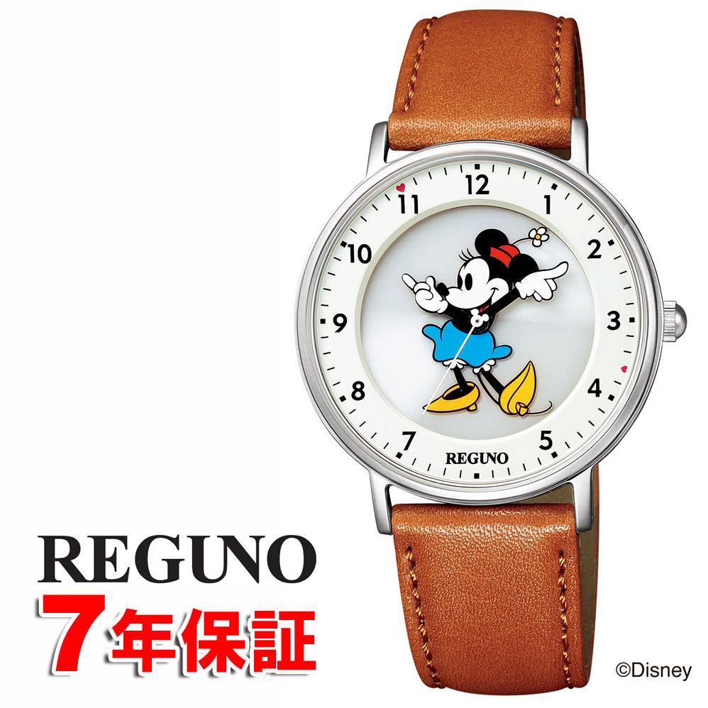 【 2000円off 割引クーポン配布中 】 レグノ ディズニーコレクション 「ミニー」 シチズン ソーラー時計 光発電 ソーラーテック 革ベルト 腕時計 CITIZEN REGUNO Disney KP3-112-12