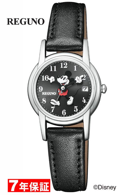 【 表示より2000円OFF クーポンあり 】 レグノ ディズニーコレクション 「ミッキー」 シチズン ソーラー時計 光発電 ソーラーテック 革ベルト レディース腕時計 CITIZEN REGUNO Disney KP7-118-50