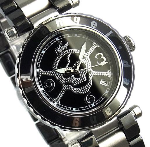 【 さらに10%offクーポン配布中 】 DADangel セラミックスカル 髑髏文字盤に10気圧防水、デート表示機能 [安心の正規品] [送料無料] [腕時計]