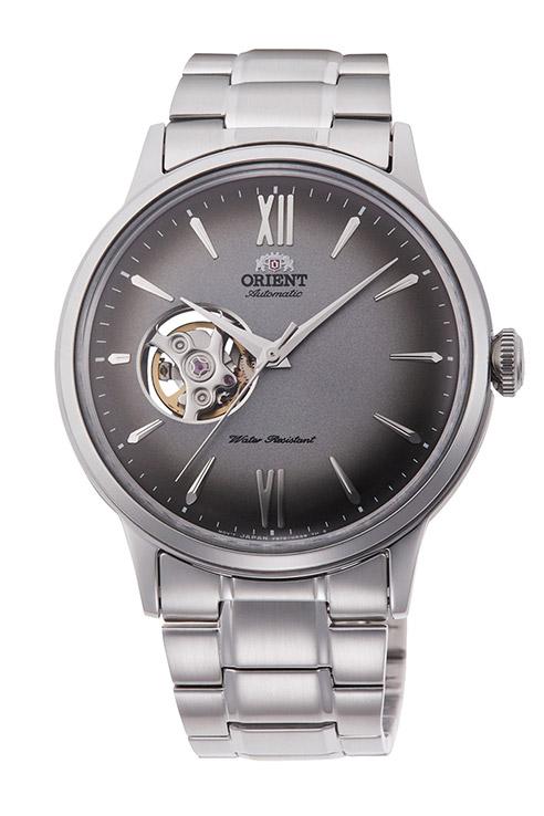 【 さらに10%offクーポン配布中 】 オリエント 機械式 自動巻き 手巻き ハック機能付き 腕時計 メンズ 時計 オープンハート シースルーバック ORIENT RN-AG0018N