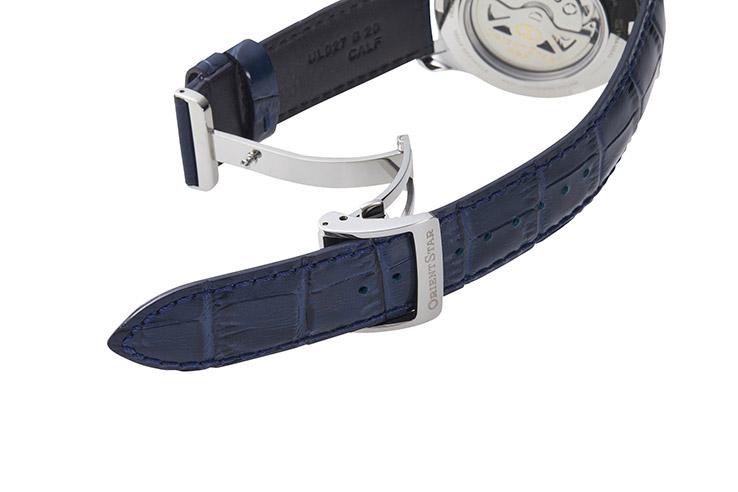 オリエントスター 機械式時計 自動巻き 手巻き ハック機能付き オープンハート シースルーバック 腕時計 メンズ 時計 ORIENT STAR SEMI SKELETON RK-AT0006L