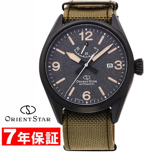 【 2000円off 割引クーポン配布中 】 ORIENT STAR オリエントスター アウトドア ミリタリー 機械式時計 替えベルト付き パワーリザーブ サファイアガラス メンズ腕時計 RK-AU0206B