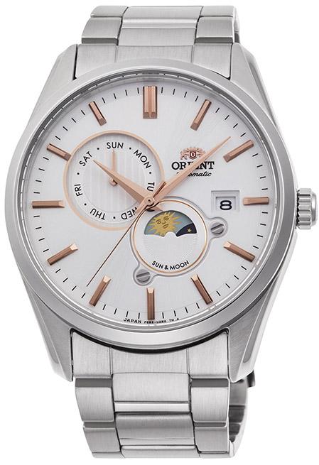 【 さらに10%offクーポン配布中 】 オリエント サン&ムーン オートマチック 機械式時計 自動巻き 手巻き ハック機能付き バックスケルトン 腕時計 メンズ ORIENT Sun&Moon watch RN-AK0301S