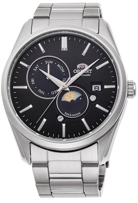 【 さらに10%offクーポン配布中 】 オリエント サン&ムーン オートマチック 機械式時計 自動巻き 手巻き ハック機能付き バックスケルトン 腕時計 メンズ ORIENT Sun&Moon watch RN-AK0302B