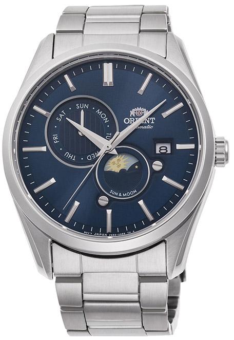 【 2000円off 割引クーポン配布中 】 オリエント サン&ムーン オートマチック 機械式時計 自動巻き 手巻き ハック機能付き バックスケルトン 腕時計 メンズ ORIENT Sun&Moon watch RN-AK0303L