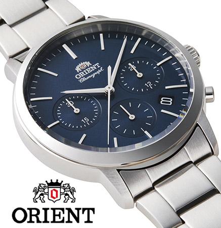 【 2000円off 割引クーポン配布中 】 オリエント クロノグラフ 腕時計 メンズ シンプル 時計 ORIENT watch RN-KV0301L