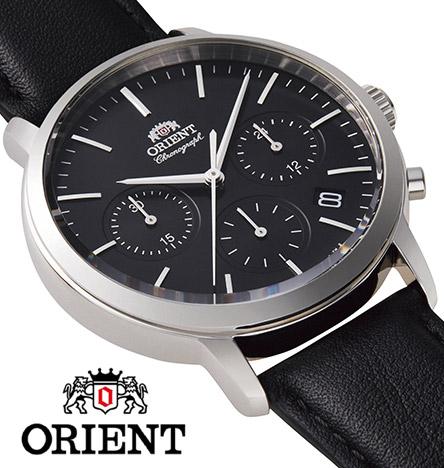 【 2000円off 割引クーポン配布中 】 オリエント クロノグラフ 腕時計 メンズ シンプル 時計 ORIENT watch RN-KV0303B
