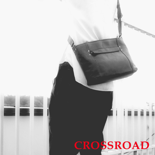 CROSSROAD 軽量 牛革 ショルダーバッグ 日本製 ブラック ブラウン ネイビー グリーン レッド クロスロード UG 505058