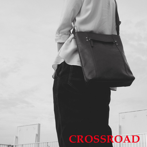 CROSSROAD 軽量 牛革 ショルダーバッグ 日本製 ブラック ブラウン ネイビー グリーン レッド クロスロード UG 505059