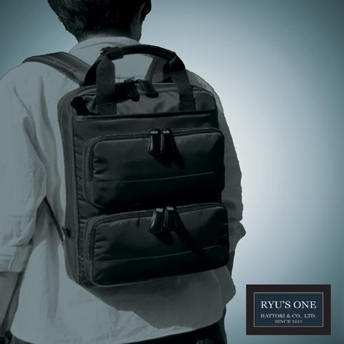 RYU'S ONE 多機能 ビジネスリュック A4対応 ブラック ネイビー リューズワン AD 102497 ビジネスバッグ