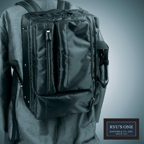 RYU'S ONE 多機能 3WAY ビジネスバッグ B4対応 ブラック ネイビー リューズワン AD 102500